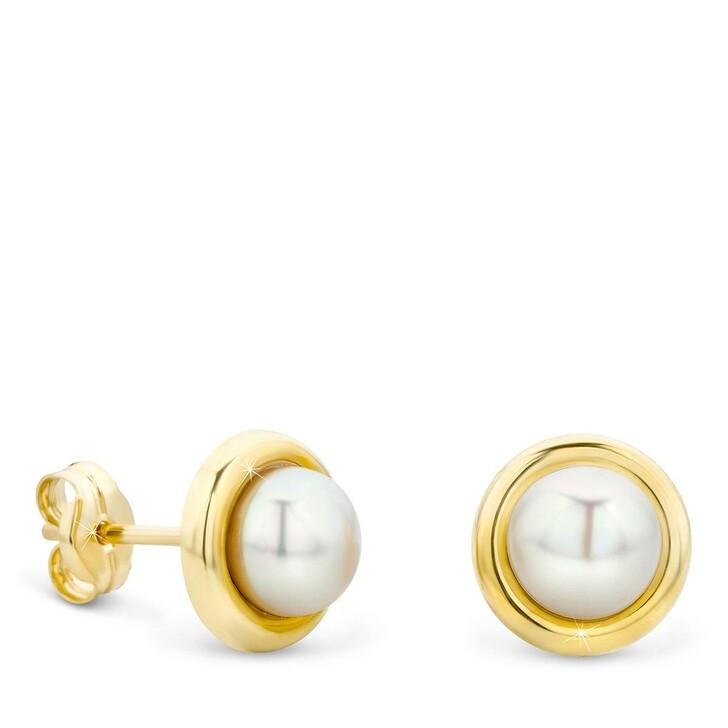 earrings, DIAMADA, 14KT Freshwater Pearl Earrings  Yellow Gold