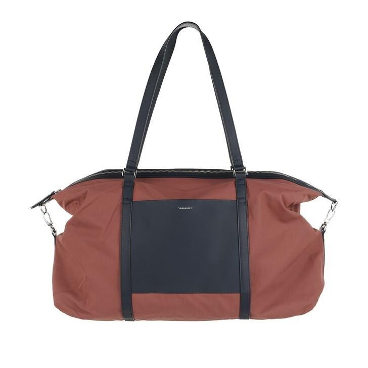 bags, Sandqvist, Hellen Gym Bag Maroon Navy