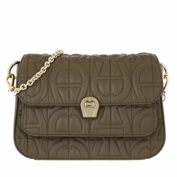 Handtasche, AIGNER, Genoveva Crossbody Bag Country Green