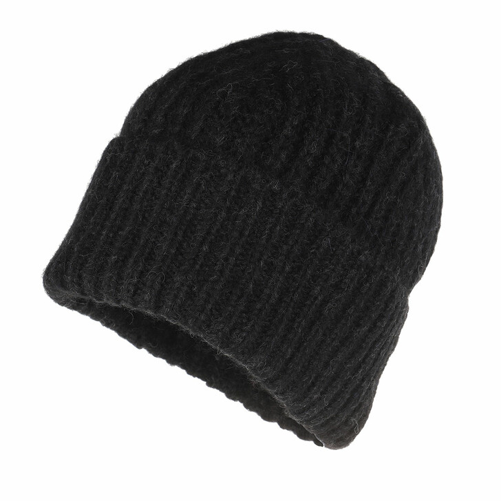 Schal, Closed, Knitted Hat Black
