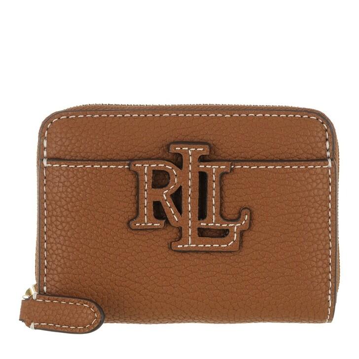 Geldbörse, Lauren Ralph Lauren, Logo Zip Wallet Small Lauren Tan/Ecru
