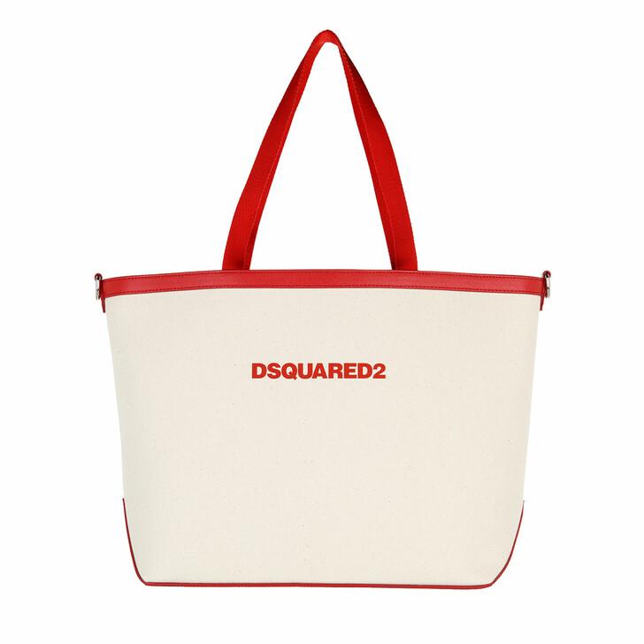bags, Dsquared2, Large Shopping Bag Ecru