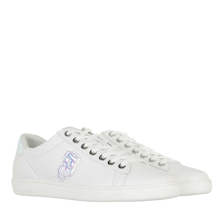 shoes, Karl Lagerfeld, KUPSOLE II Karl Ikonic Lo Lace White Leather/Iridescent