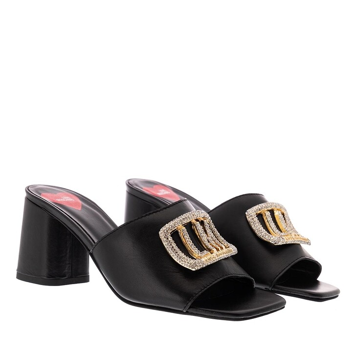 Schuh, Love Moschino, Mule Grosso75 Nappa  Nero