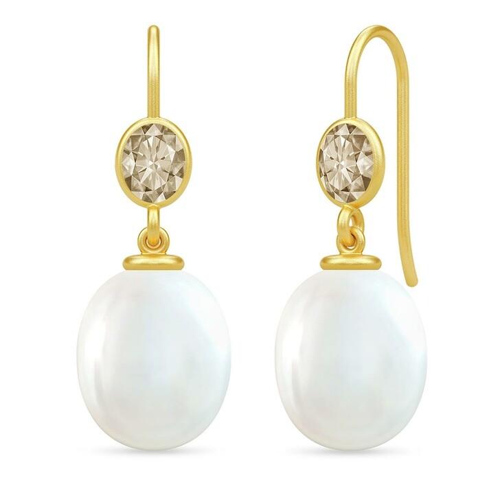 earrings, Julie Sandlau, Callas Earrings White Pearl