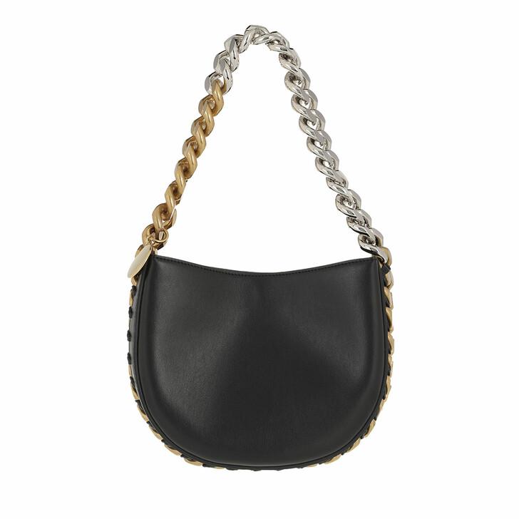 bags, Stella McCartney, Frayme Satchel Bag Black