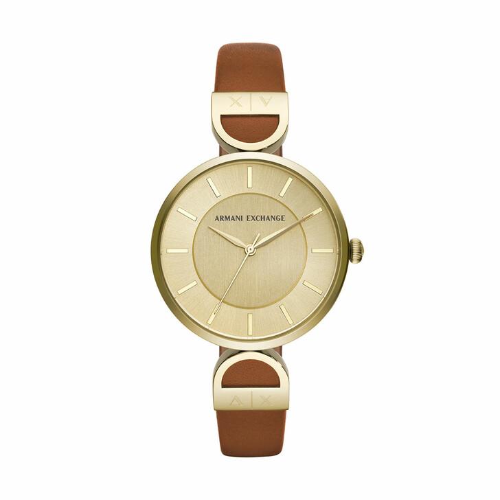 watches, Armani Exchange, AX5324 Ladies Brooke Watch Gold