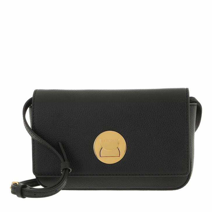bags, Coccinelle, Mini Bag Bottalatino Leather Noir/Noir