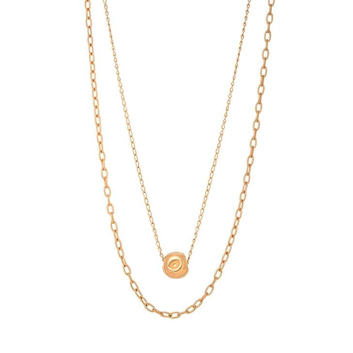necklaces, Released From Love, Classic Double Chain Necklace Gold Vermeil