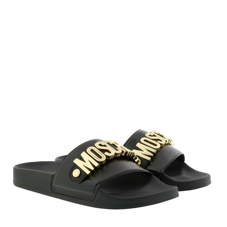 Schuh, Moschino, M11 Logo Slides Black