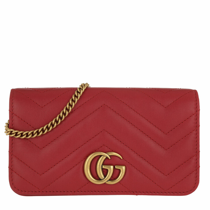 Handtasche, Gucci, GG Marmont Matelassé Super Mini Bag Leather Red