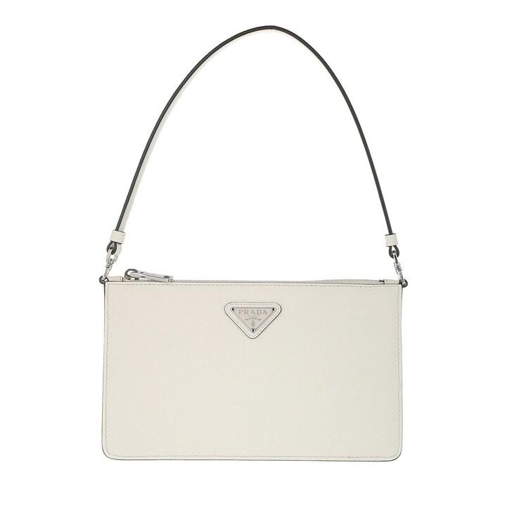 bags, Prada, Mini Saffiano Satchel Bag White