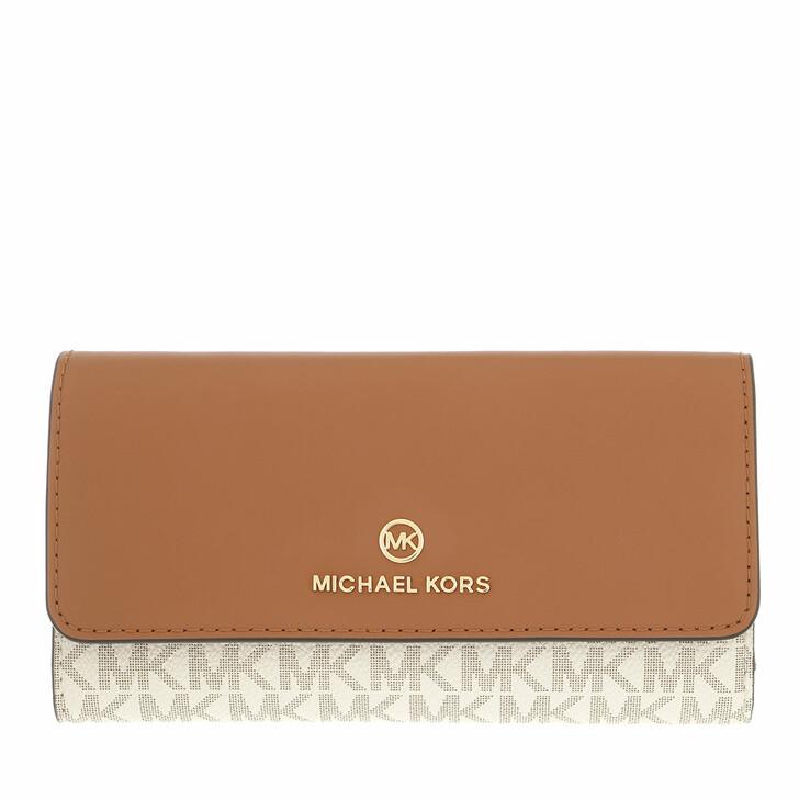 wallets, MICHAEL Michael Kors, Large Trifold Wallet Vanilla/Acorn