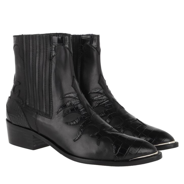 Schuh, Toral, Printed Booties Negro