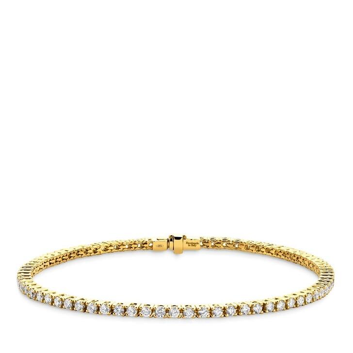 Armreif, DIAMADA, 14KT 2ct Diamond Tennis Bracelet Yellow Gold