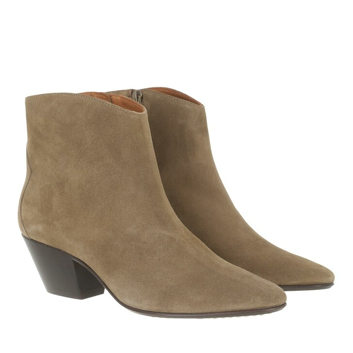 shoes, Isabel Marant, Dacken Ankle Boots Suede Leather Taupe