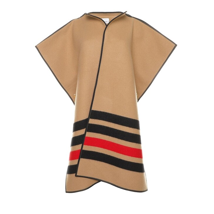 Schal, Burberry, Biscuit Poncho Wool Archive Beige