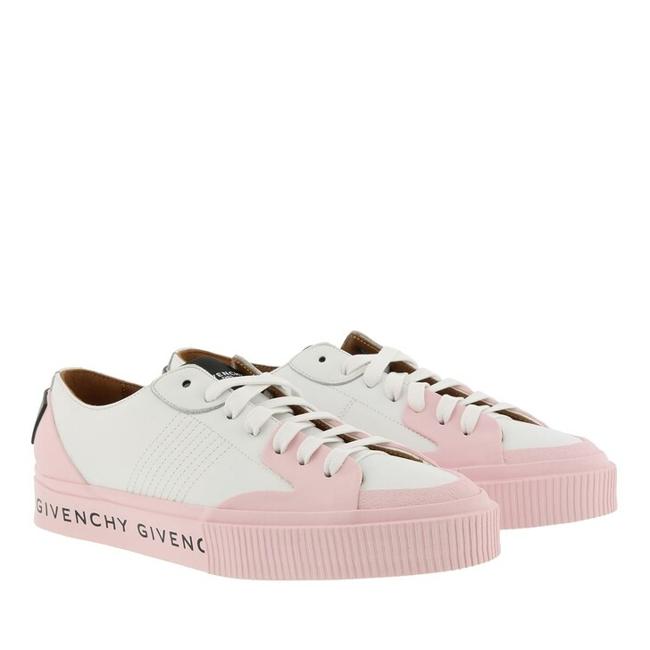 Schuh, Givenchy, Tennis Sneaker White/Peony