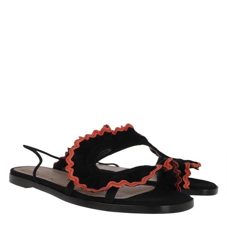 shoes, Red Valentino, Sandal Black/Orange