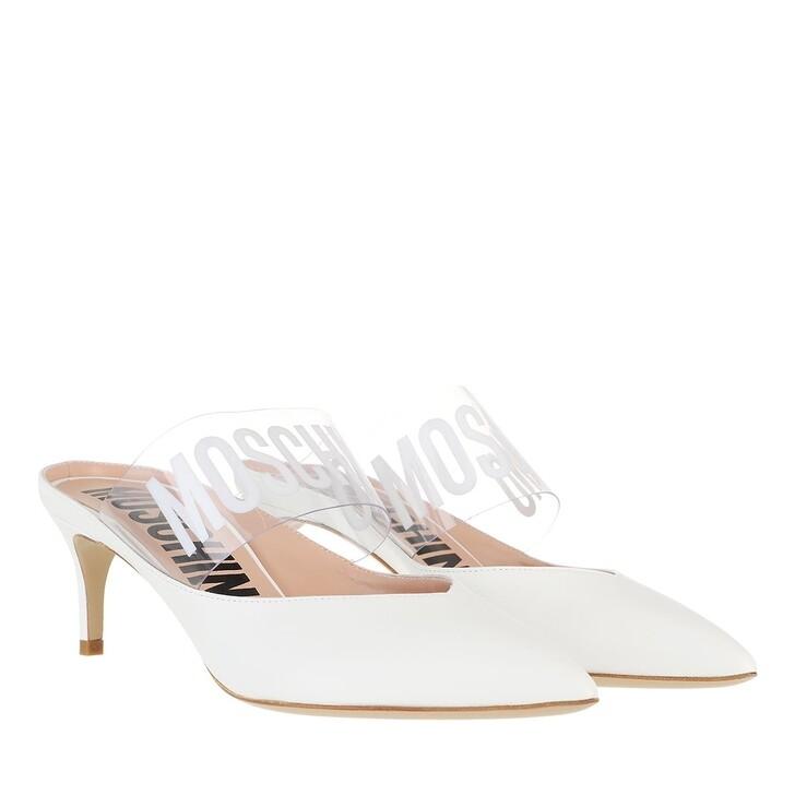 Schuh, Moschino, Shoe Vitello Bianco
