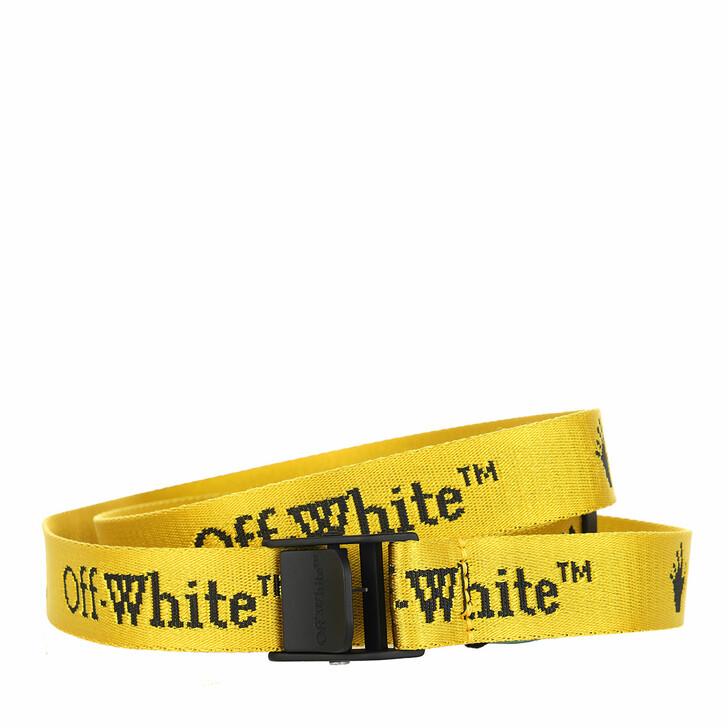 belts, Off-White, New Logo Mini Industrial Belt  Yellow Black
