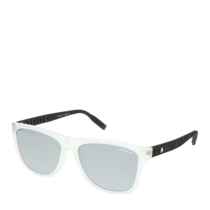 Sonnenbrille, Montblanc, MB0062S-004 56 Man Injection Crystal-Black-Silver