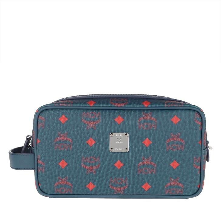 Necessaire, MCM, Vis Original Wash Bag Deep Blu Sea