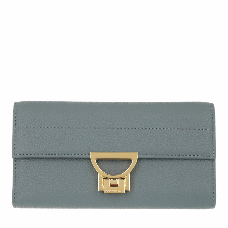 wallets, Coccinelle, Arlettis Wallet Grainy Leather  Shark Grey
