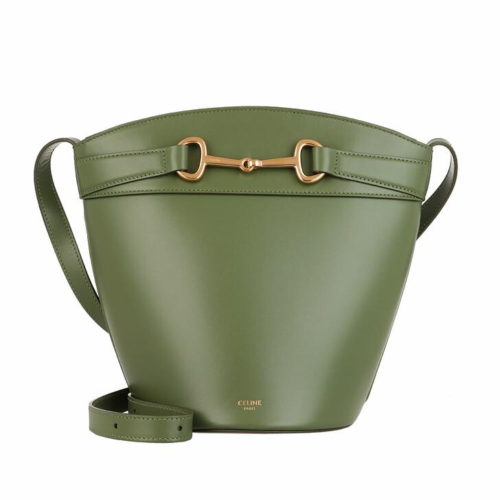 Handtasche, Celine, Crecy Bucket Bag Leather Light Khaki