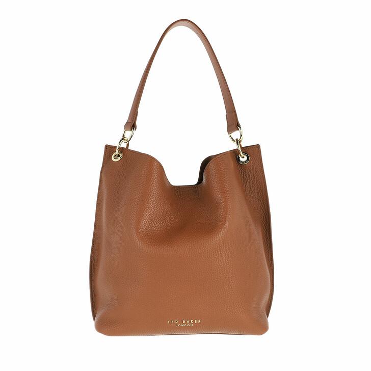 Handtasche, Ted Baker, Amada Branded Webbing Strap Hobo Bag Brown