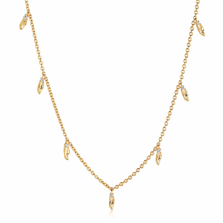Kette, Sif Jakobs Jewellery, Vulcanello Necklace White Yellow Gold