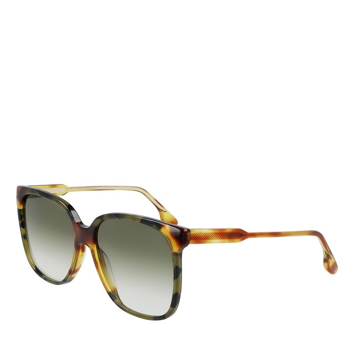 Sonnenbrille, Victoria Beckham, VB610SCB BLONDE HAVANA/GREEN HAVANA