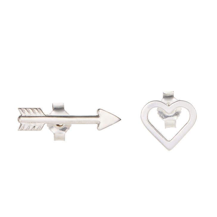 earrings, Saskia Diez, In Love Earstuds Silver