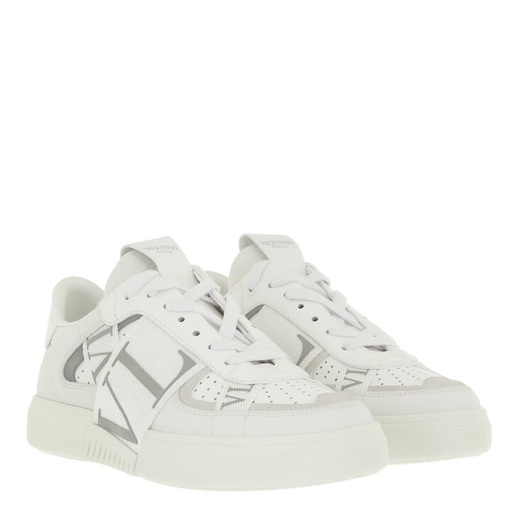 shoes, Valentino Garavani, VLTN Low Top Sneakers Calf Leather White Pastell Green