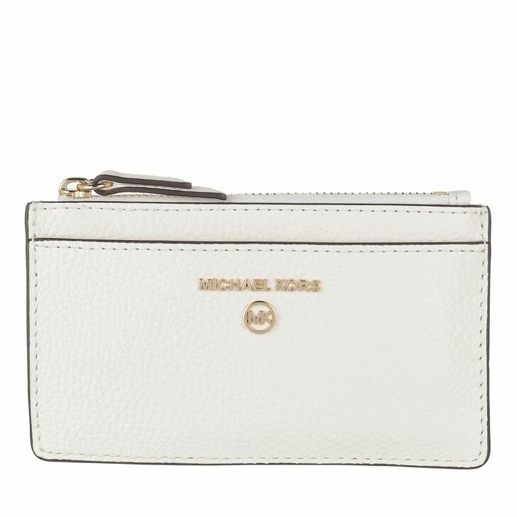 wallets, MICHAEL Michael Kors, Small Slim Card  Optic White