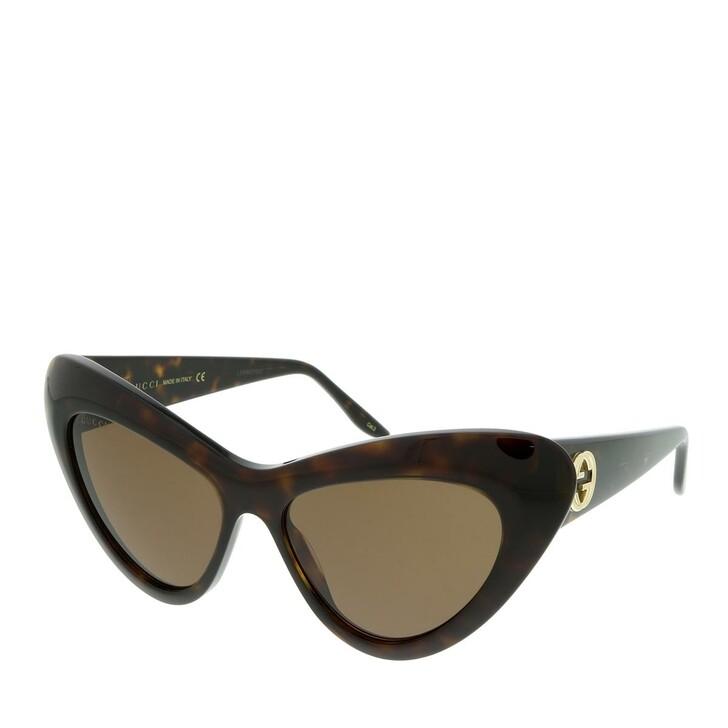 Sonnenbrille, Gucci, GG0895S-002 54 Sunglass WOMAN ACETATE HAVANA