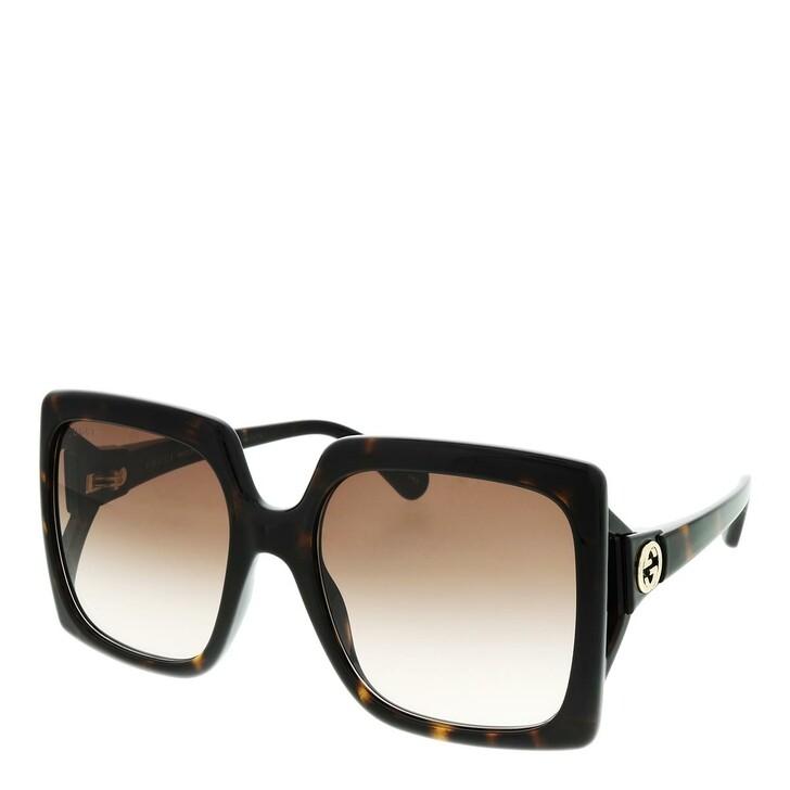 sunglasses, Gucci, GG0876S-002 60 Sunglass WOMAN INJECTION HAVANA