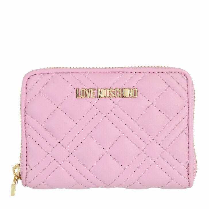 wallets, Love Moschino, Portafogli Quilted Pu  Malva
