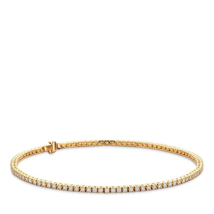 Armreif, DIAMADA, 14KT 1ct Diamond Tennis Bracelet  Yellow Gold
