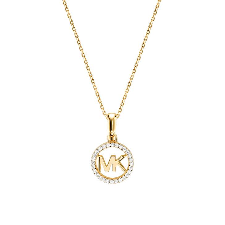 Kette, Michael Kors, MKC1108AN710 Logo Charm Neck Gold