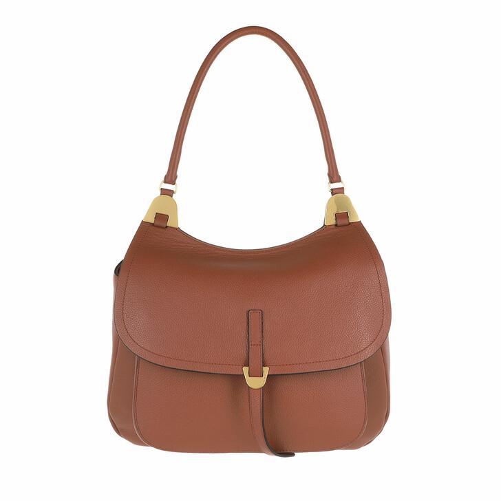 bags, Coccinelle, Fauve Handbag Bottalatino Leather Cinnamon