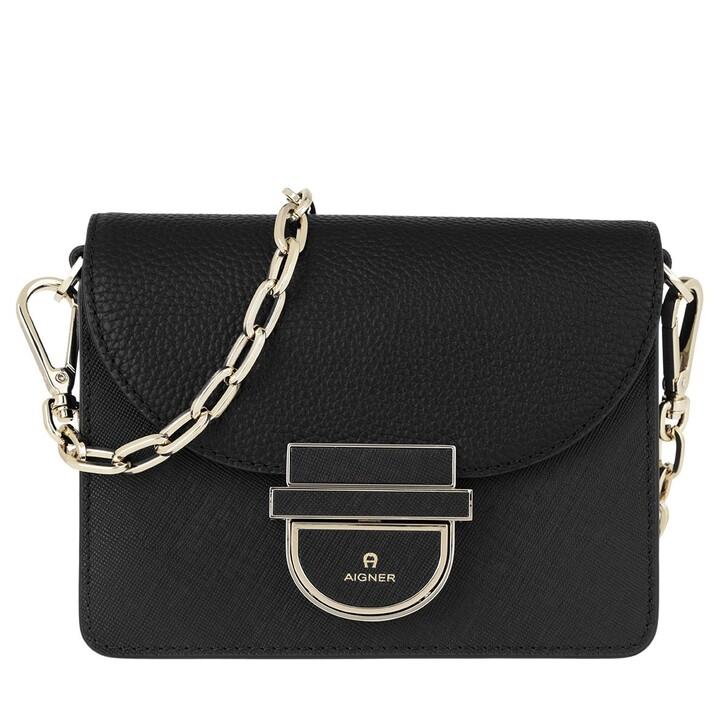 bags, AIGNER, Cosima XS Crossbody Bag Black