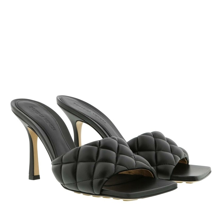 Schuh, Bottega Veneta, Quilted Mules Leather Black