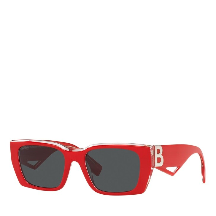 Sonnenbrille, Burberry, 0BE4336 TOP RED ON TRANSPARENT