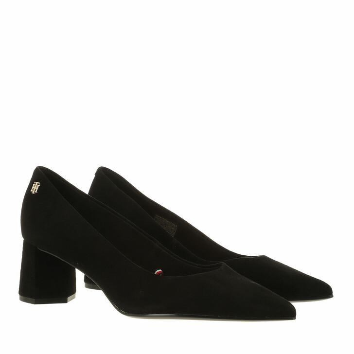 Schuh, Tommy Hilfiger, Feminine Mid Heel Pumps Black