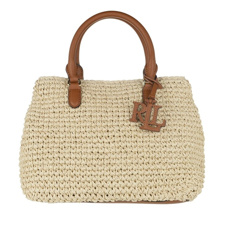 Handtasche, Lauren Ralph Lauren, Marcy Ii Satchel Mini Natural/Lauren Tan