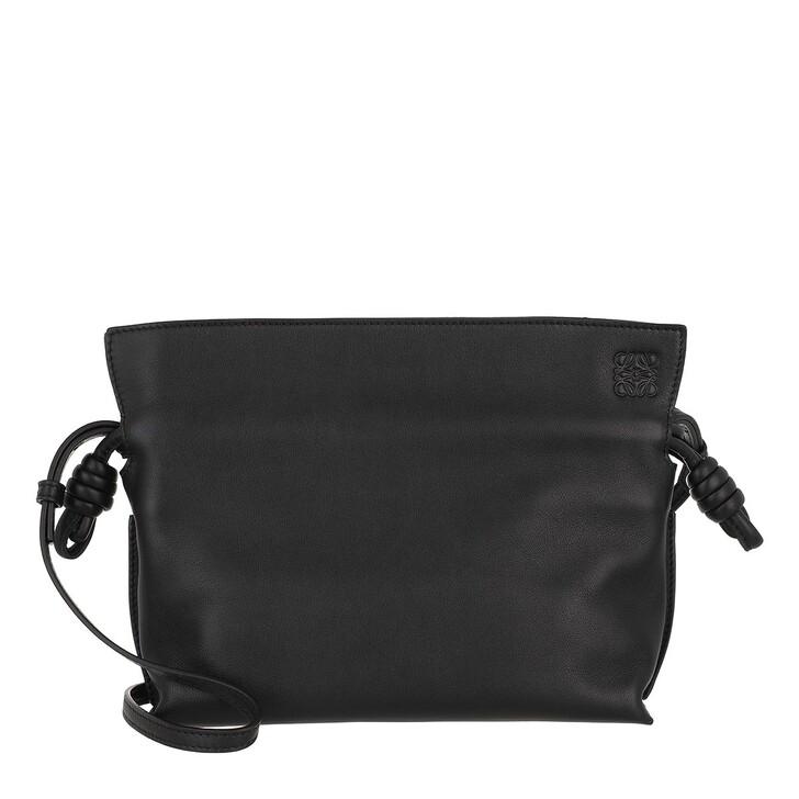 Handtasche, Loewe, Mini Flamenco Clutch Nappa Calfskin Black
