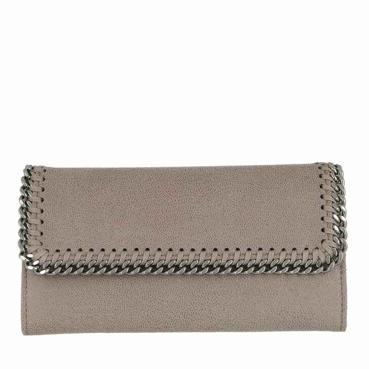 Geldbörse, Stella McCartney, Continental Flap Wallet Shaggy Deer Smoke