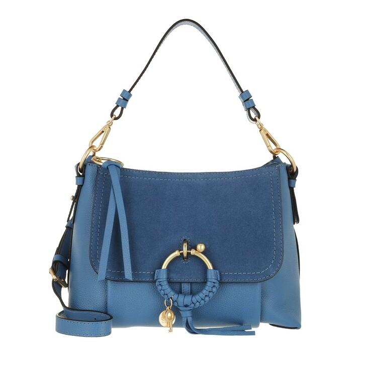 Handtasche, See By Chloé, Joan Grained Shoulder Bag Leather Moonlight Blue