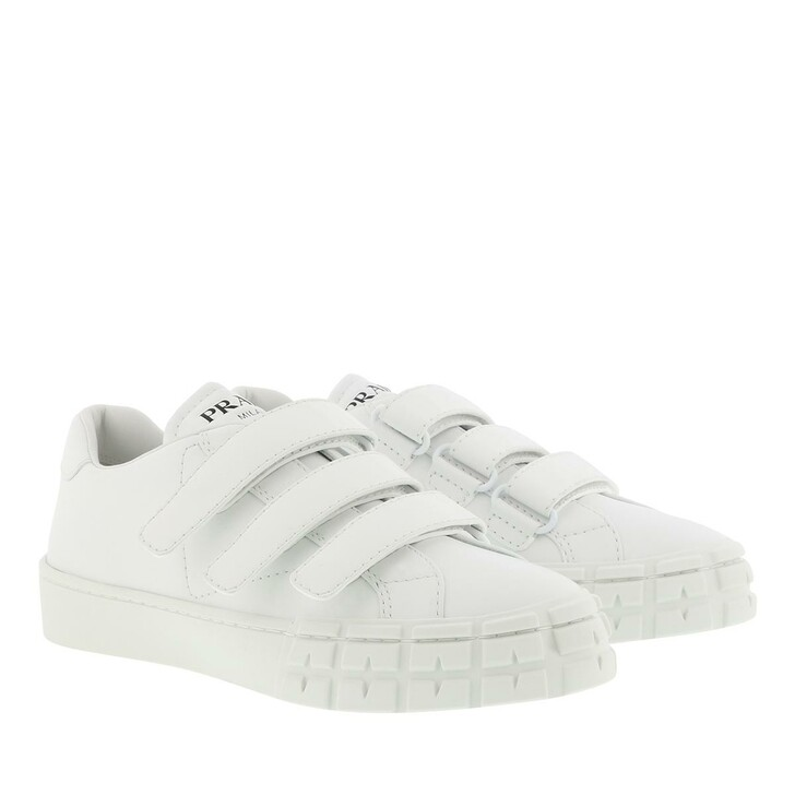 shoes, Prada, Sneakers Calf Leather White